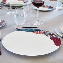 OFFRE DU MOMENT - Assiette plate Fragment Carmin